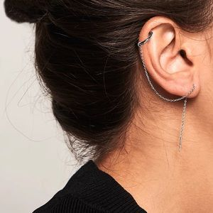 🛍 2/25 Earring + pressure piercing - earrings